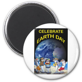 Celebrate Earth Day 2 Inch Round Magnet