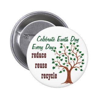 Celebrate Earth Day - Customizable Pin