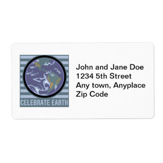 Celebrate Earth Shipping Label