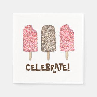 Celebrate! Eclair Ice Cream Popsicles Napkins Disposable Napkins