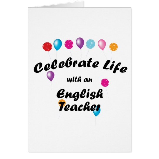 Celebrate English Teacher Card