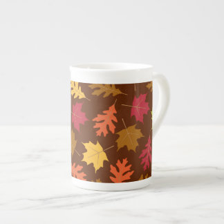 Celebrate Falling Autumn Colorful Leaves Pattern Tea Cup