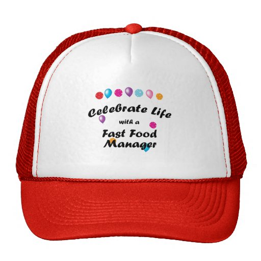 Celebrate Fast Food Manager Trucker Hat
