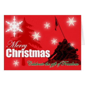 Celebrate Freedom Military Christmas Card