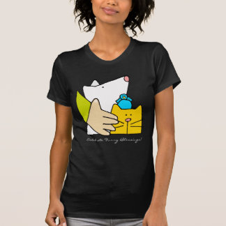 Celebrate Furry Blessings, Dog Cat and Bird T-Shirt