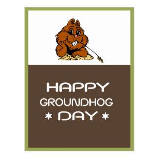 Celebrate Groundhog Day Postcard