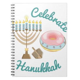 Celebrate Hanukkah Spiral Notebooks