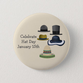 Celebrate Hat Day | January 15th 2 Inch Round Button