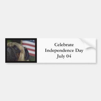 Celebrate Independence Day July 04 Bumper Sticker