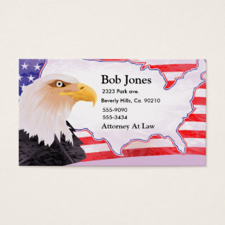 Celebrate Independence Eagle Business Card