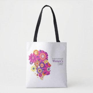 Celebrate international women day flower lady bag