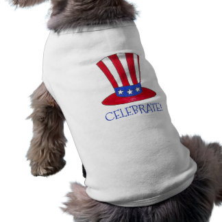 Celebrate July 4th Patriotic USA Uncle Sam Dog Tee