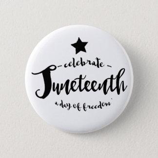 Celebrate Juneteenth Star 2 Inch Round Button