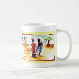 Celebrate Kwanzaa, Africa village life Classic White Coffee Mug