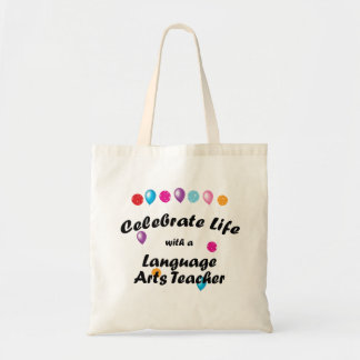 Celebrate Language Arts Teacher Tote Bag