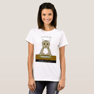 """Celebrate Lent!"" T-Shirt with Cat"