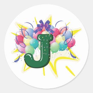 Celebrate Letter J Stickers