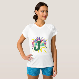 Celebrate Letter J Womens Active Tee