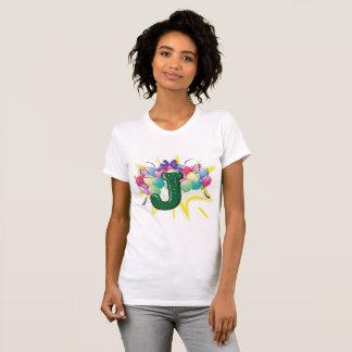 Celebrate Letter J Womens T-Shirt
