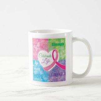 Celebrate Life Breast Cancer Pink Ribbon design Coffee Mug