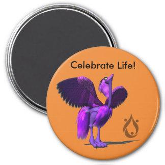 Celebrate Life with Phoenix Voyage mascot Magnet