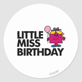 Celebrate Little Miss Birthday Classic Round Sticker