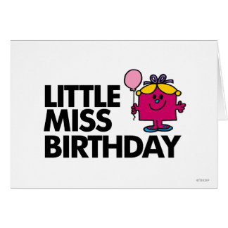 Celebrate Little Miss Birthday Greeting Card