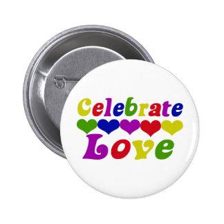 Celebrate Love 2 Inch Round Button