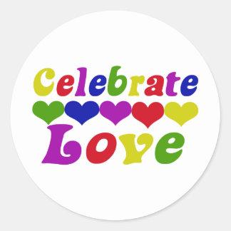 Celebrate Love Classic Round Sticker