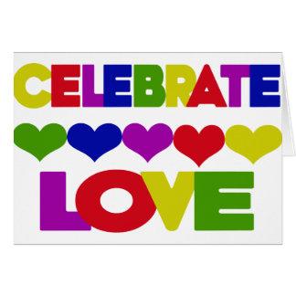 Celebrate Love Greeting Card