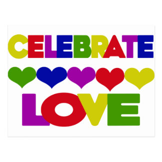 Celebrate Love Postcard