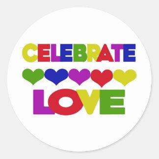 Celebrate Love Round Stickers