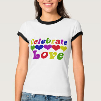 Celebrate Love Valentines day heart T-shirts