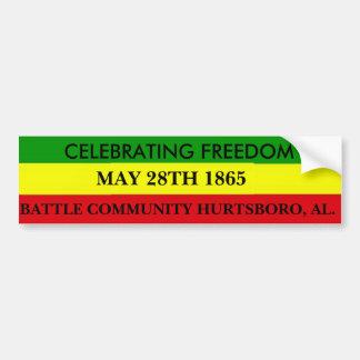 Celebrate May 28th Festive Bumper Sticker