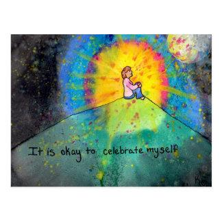 Celebrate Myself Postcard