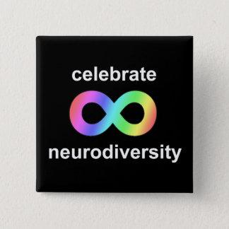 Celebrate neurodiversity 2 inch square button