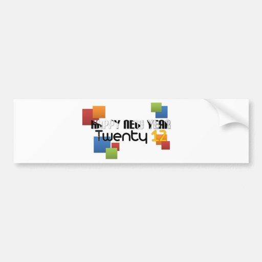 Celebrate New Year 2012 Bumper Sticker