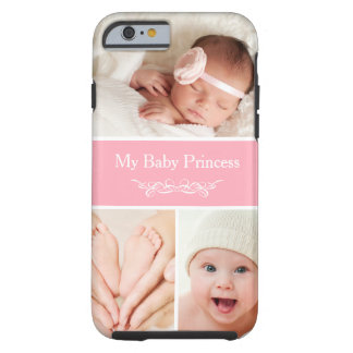 Celebrate Newborn Baby Girl Princess Photo Collage Tough iPhone 6 Case