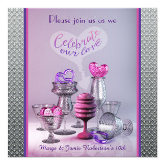 Celebrate Our Love Anniversary Cocktail Party Card