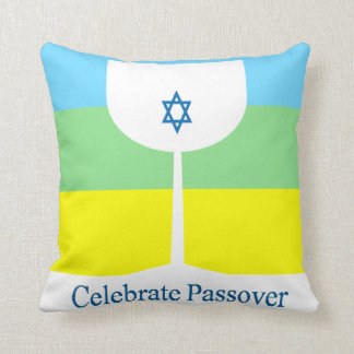 Celebrate Passover Cup Throw Pillow