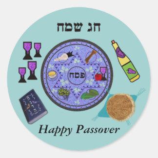 Celebrate Passover Round Stickers