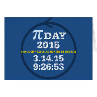 Celebrate Pi Day 2015 greeting card
