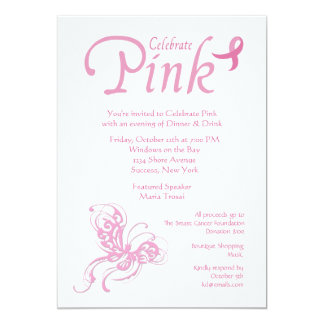 Celebrate Pink Breast Cancer Invitation