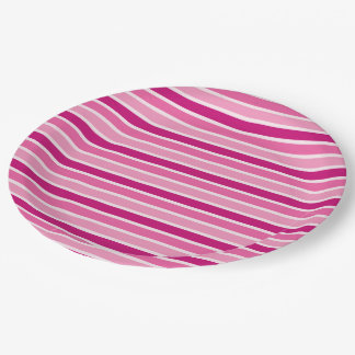Celebrate pink event paper plate