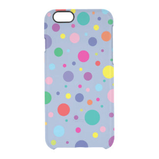 Celebrate | Polka Dots | Customized Background Clr Clear iPhone 6/6S Case
