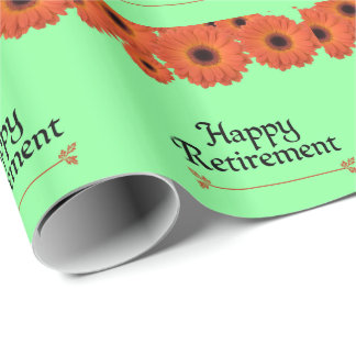 Celebrate Retirement Wrapping Paper