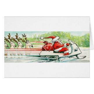 Celebrate | Santa Snowmobile Card
