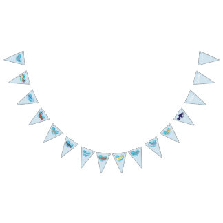 Celebrate Sharks! Bunting Flags