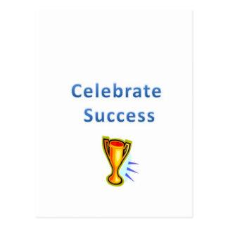 celebrate success postcard