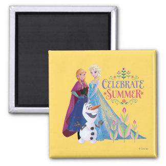 Celebrate Summer Square Magnet